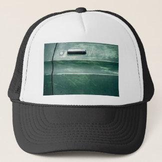 scrapped green car door trucker hat