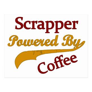 Scrapper accionado por el café postal