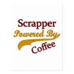 Scrapper accionado por el café tarjeta postal