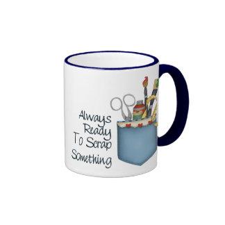 Scrapper listo tazas de café