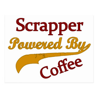 Scrapper Powered By Coffee Postcard