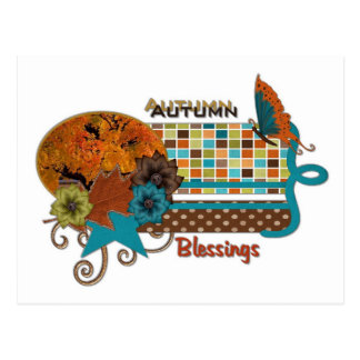 Scrappy Autumn Blessings Postcard