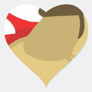 Scrappy Dog Super Swag Heart Sticker
