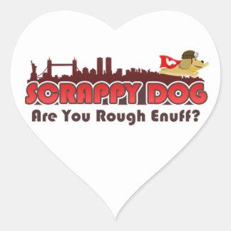Scrappy Dog Swag Heart Sticker