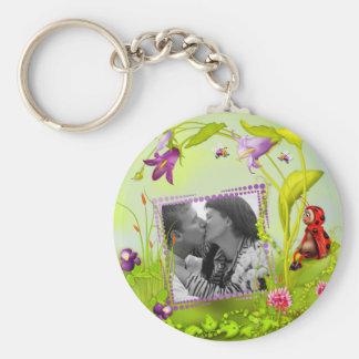 Scrappy Lady Bug Garden Photo Frame Keychain