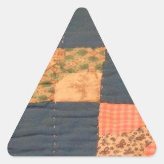 Scrappy Quilt Triangle Sticker