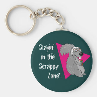 Scrappy the Squirrel Keychain