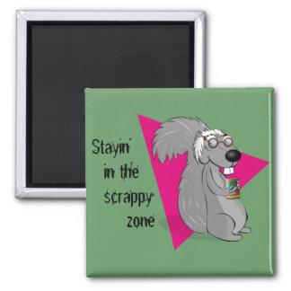 Scrappy the Squirrel Magnet