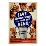 Scraps - Feed the Hens Poster