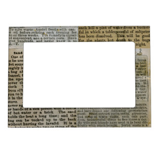 scraps of newspaper magnetic picture frame