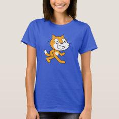 Scratch Cat Shirt (womens) at Zazzle