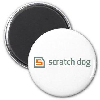 scratch dog 2 inch round magnet
