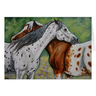 Scratch My Back, Appaloosa Horses Greeting Card