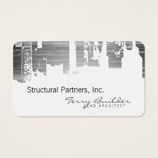 Scratch Upside Downtown Horizontal Architect Business Card