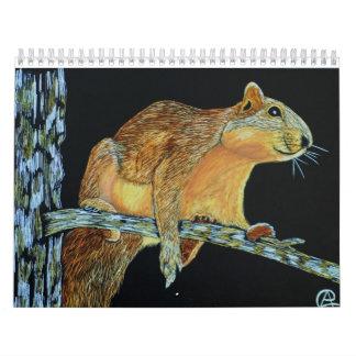 Scratchboard Art Calendar