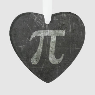 Scratched and Aged Dark Gray Pi Math Symbol