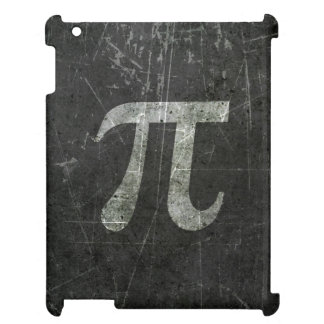 Scratched and Aged Dark Gray Pi Math Symbol iPad Covers