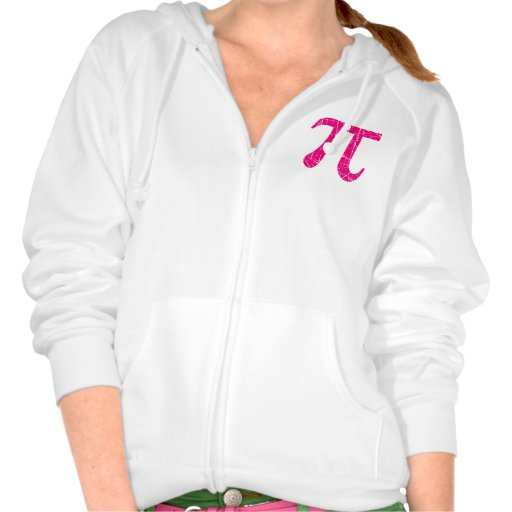 Scratched and Aged Pink Pi Math Symbol Sweatshirt