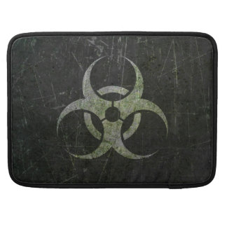 Scratched and Worn Biohazard Symbol Sleeve For MacBook Pro