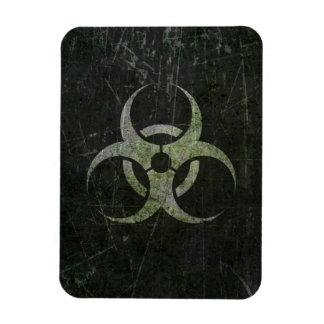 Scratched and Worn Biohazard Symbol Magnet