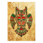 Scratched and Worn Haida Spirit Owl Business Card Template