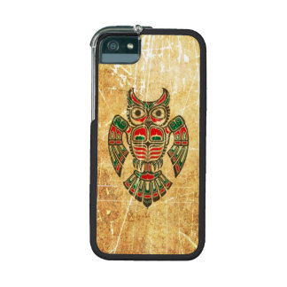 Scratched and Worn Haida Spirit Owl iPhone 5 Cases