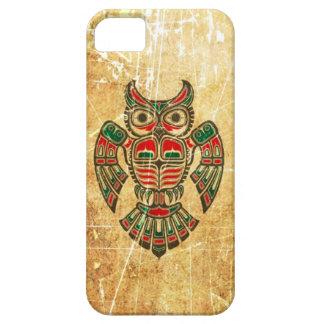 Scratched and Worn Haida Spirit Owl iPhone 5 Case