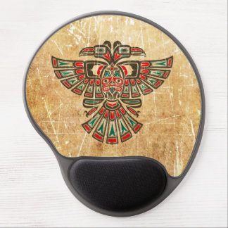 Scratched and Worn Haida Two Headed Spirit Bird Gel Mouse Pad
