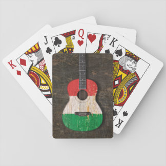 Scratched and Worn Italian Flag Acoustic Guitar Card Decks