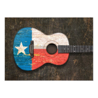 Scratched and Worn Texas Flag Acoustic Guitar Announcement