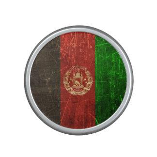 Scratched and Worn Vintage Afghan Flag Bluetooth Speaker