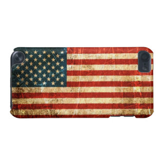 Scratched and Worn Vintage American Flag iPod Touch (5th Generation) Cases