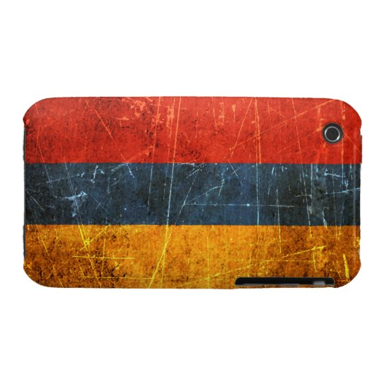 Scratched and Worn Vintage Armenian Flag iPhone 3 Case-Mate Case