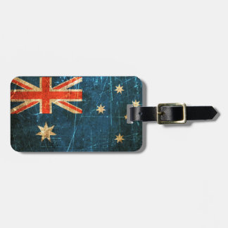 Scratched and Worn Vintage Australian Flag Bag Tag