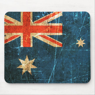 Scratched and Worn Vintage Australian Flag Mouse Pad