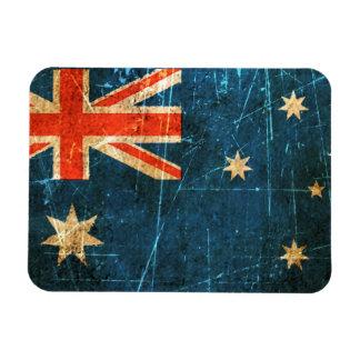 Scratched and Worn Vintage Australian Flag Rectangular Photo Magnet