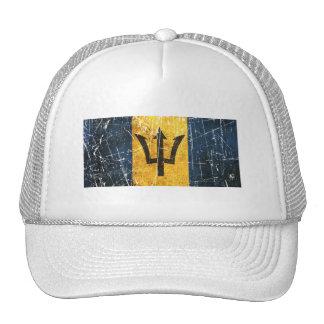 Scratched and Worn Vintage Barbados Flag Trucker Hat