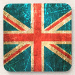 Scratched and Worn Vintage British Flag Coasters