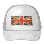 Scratched and Worn Vintage British Flag Trucker Hat