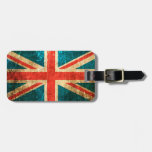 Scratched and Worn Vintage British Flag Tag For Luggage