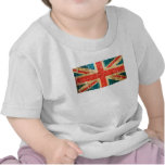 Scratched and Worn Vintage British Flag T Shirt