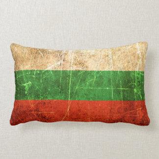 Scratched and Worn Vintage Bulgarian Flag Lumbar Pillow