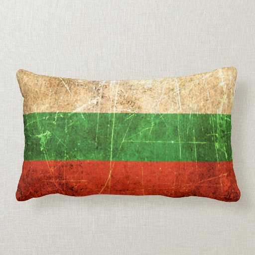Scratched and Worn Vintage Bulgarian Flag Pillows