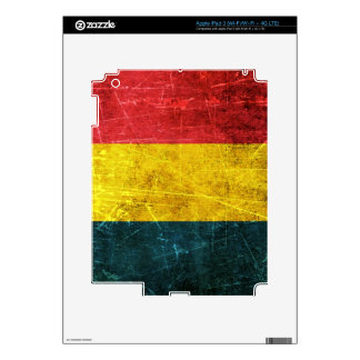Scratched and Worn Vintage Chad Flag Skins For iPad 3