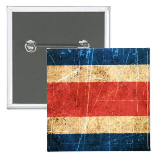 Scratched and Worn Vintage Costa Rica Flag Pin