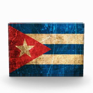 Scratched and Worn Vintage Cuban Flag Award