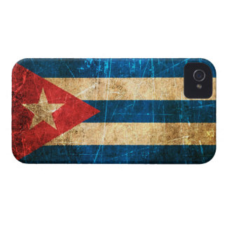Scratched and Worn Vintage Cuban Flag iPhone 4 Cover