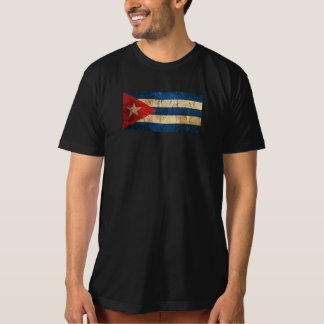 Scratched and Worn Vintage Cuban Flag T Shirt