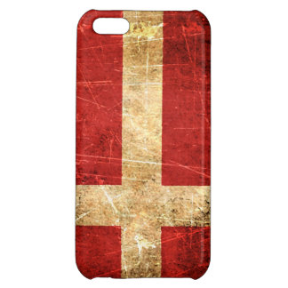 Scratched and Worn Vintage Danish Flag iPhone 5C Case