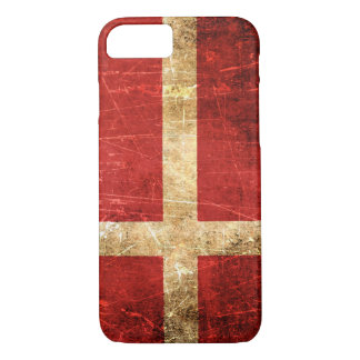 Scratched and Worn Vintage Danish Flag iPhone 8/7 Case